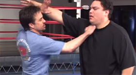 When defending against hair pulling the first thing to do is shed the attackers grip on your hair and quickly strike your opponent either with an eye gouge or throat strike.