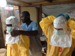 Survival in a Catastrophic Environment: Ebola Outbreak