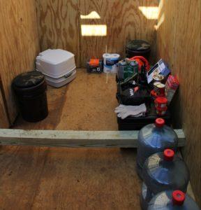 Survival in a Catastrophic Environment: Underground Hide Hut